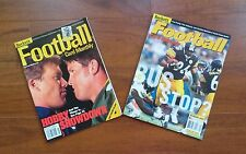 2 Beckett Football Card Monthly Magazines - Jan. 1999, Jan. 2002
