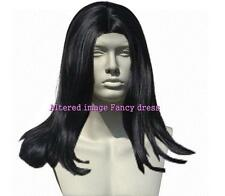 Mens Halloween Fancy Dress - Black Gothic Count Wig