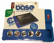 VIBE Slick Base 5 in 1 iPad Workstation  for iPad 2/3/4 - Blue