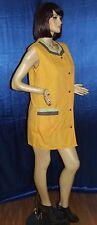 Toller gelb Blouse Nylon Kittel Schürze Overall Gr. 46