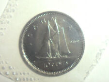 1969 CANADA QEII SAILBOAT PROOF-LIKE 10c COIN FROM SET SHIPS $2.99USA $13.99 INT