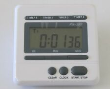 Lab timer 4 channel 99 hr clock count down or up alarm New