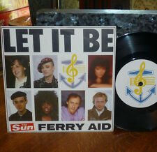 * * BEATLES LET IT BE CLEAN M- '87 FERRY AID CHARITY 45/PIC SLV w/PAUL McCARTNEY