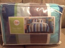 Circo 7 Piece Bed Set - Full - Basic Collection Blue Stripes New