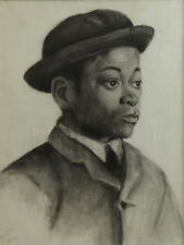 19th c. AFRICAN AMERICAN PORTRAIT DRAWINGS/ARTIST ISABELLE FERRY b.1865 - d.1937