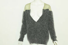NEW Authentic Stella McCartney Grey Chunky Knit Oversized Jumper SIZE 40