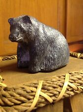 'BLACK BEAR'  THE WOLF SCULPTURES  Hand made in Canada Original Signed