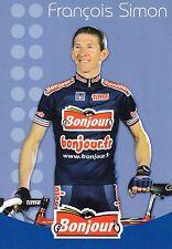CYCLISME carte cycliste FRANCOIS SIMON équipe BONJOUR.fr 2002