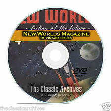 New Worlds, 91 Vintage Pulp Magazine, Golden Age Science Fiction DVD C63