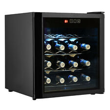 New 16 Bottles Wine Cooler Fridge Cellar Storage Holder Chiller Bar Rack Cabinet