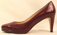 Women's Cole Haan Size 9 1/2 B Burgundy Patent Leather Heels Pumps