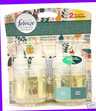 2 Refills OF Febreze NOTICEables SPICED PEAR Pear & Spice Scented Oil Refill