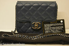 Chanel Blue Quilted Lambskin Leather Crossing Times Mini Flap Bag