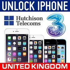 APPLE IPHONE 6S 6 5S 6S+ 5C 5 FACTORY UNLOCK CODE SERVICE 3 THREE UNITED KINGDOM
