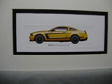 2012   Ford Mustang Boss 302 From   50 Year Anniversary Exhibit  by artist