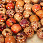 100pcs 10mm Mixed Wood Round Beads Jewelry Making Loose Spacer Charms Findings