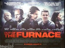 OUT OF THE FURNACE ORIGINAL 2014 QUAD POSTER CHRISTIAN BALE CASEY AFFLECK