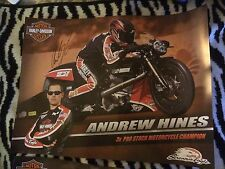 Andrew Hines Pro Stock Bike Motorcycle Signed Poster Nhra 2014