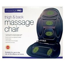NEW Thigh & Back Massage Pro Chair for Car Office or Home 5 Program Modes - Heat