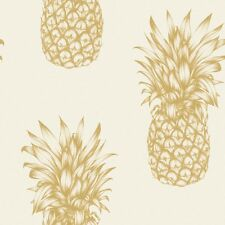 Copacabana Gold Pineapple Wallpaper by Arthouse 690901