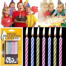 10pcs  Party Birthday Relighting Funny Magic Candles Trick Toys