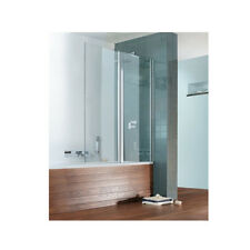 Simpsons Design DBDSC1060 Silver Semi-Frameless Double Bath Screen 1060mm