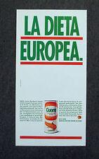 G487 - Advertising Pubblicità - 1989 - OLIO CUORE , LA DIETA EUROPEA