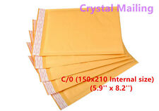 100 C/0 C0 Small Padded Bubble Lined Postal Envelopes Mailer Cheap 150 x 210mm