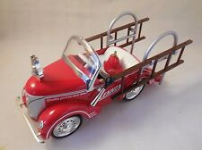 "LENNOX  1941 CARTON FIRE TRUCK PEDAL CAR BANK, 1:6 SCALE, ""CROWN"""