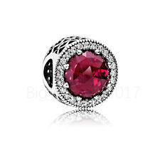 Authentic Pandora Charm Radiant Hearts Cerise Crystal WITH *Pouch 791725NCC