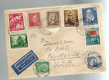 1953 Dresden East Germany DDR  cover to Fayetteville NC USA