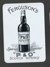 Playing Swap Cards 1 VINT WIDE  BRITISH WHISKY ADVT  FERGUSON'S P&O SCOTCH #49