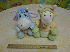 Walt Disney Company Plush Baby Tigger & Eeyore Wings Antennae Shiny Pastel Toy