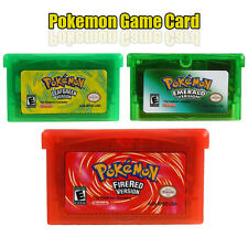 3PCS Pokemon Game CARD Platinum FireRed Emerald US Version For GBM/GBA/3DS Lite