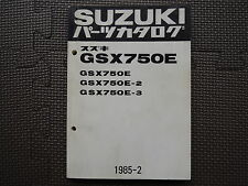 JDM SUZUKI GSX750E Type 1/2/3 GS75X Original Genuine Parts List Catalog GSX 750