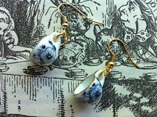 CUTE VINTAGE STYLE PATTERN PORCELAIN ALICE TEAPARTY TEACUP EARRINGS