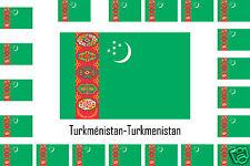 Assortiment lot de 10 autocollants Vinyle stickers drapeau Turkménistan