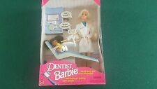 1997 Blonde Dentist Barbie + Blonde Patient  Dolls (NEW)