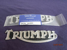 TRIUMPH  A Pair of tank badges for 5T models, new best quality, from Domi Racer