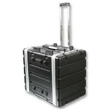 "Stackable ABS 19"" Rack Flight Case - 8RU - with Pull Handle"
