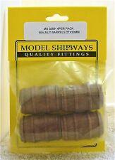 Model Shipways Fittings MS 0269. Walnut Barrels 21X30MM. 4 Per Pack. NEW.