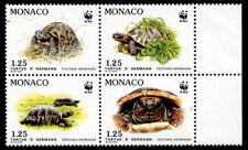 Monaco 1991 en voie de disparition tortue de hermann set de 4 avec wwf panda logo neuf sans charnière