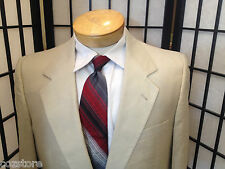 Lanvin Paris Two Piece Three Button Front 100% Silk Suit Mens Size 41 Long