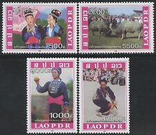 LAOS N°1705/1708** Nouvel An Hmong, 2008  Sc#1761-1764 MNH