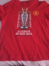 Man United Kids T Shirt Premier League Winners