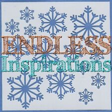 "6""x6""Endless Inspirations Stencil, Snowflakes - Free US Shipping"