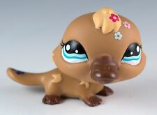 Littlest Pet Shop Platypus #1395 Brown With Blue Eyes