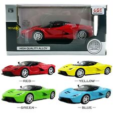 1PC 1:32 La Ferrari DieCast Model Car Kid Pull Back Friction Vehicle Toy LED