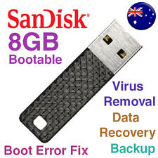 Bootable 8GB USB Virus Recovery Disk Malware Adware Removal Repair Flash Drive