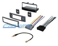 CAR STEREO RADIO KIT DASH INSTALLATION MOUNTING TRIM BEZEL WITH WIRING HARNESS